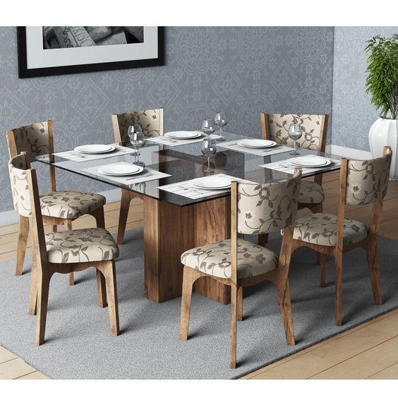 moderna-mesa-de-jantar-quadrada-tampo-de-vidro