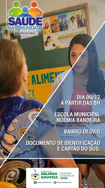 Em Delmiro Gouveia, 5ª etapa do Saúde na comunidade acontecerá nesta quinta-feira, 06, no Bairro Desvio