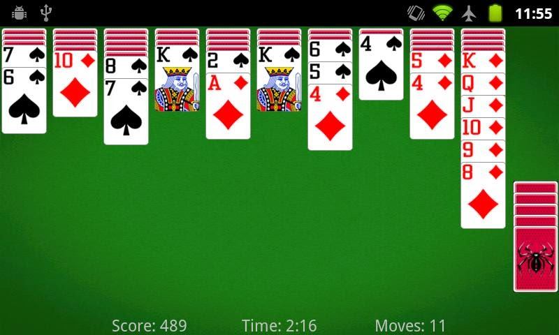 "Game Kartu Solitaire di Android ""Spider Solitaire"" v3.0.5"