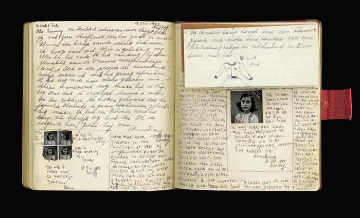 diario, appunti, notes, pensieri, scrittura, Anne Frank, pagine