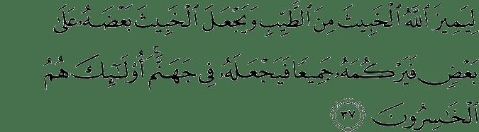 Surat Al Anfal Ayat 37
