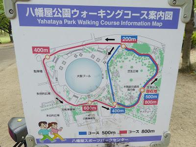 八幡屋公園ウォーキングコース案内図