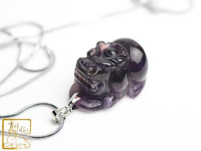 紫水晶貔貅項鍊