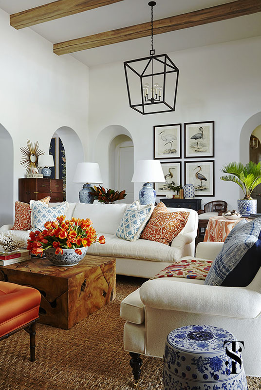 Traditional Decor Inspiration Blue And White Tropical