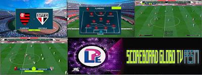 PES 2017 Scoreboard Globo TV by LPE09