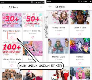 Cara download sticker picsart gratis
