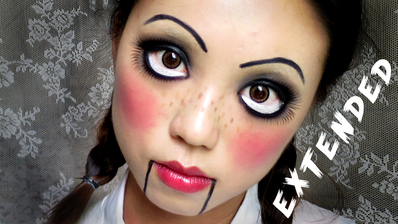 easy halloween makeup creepy cute doll madokeki makeup reviews tutorials and beauty. Black Bedroom Furniture Sets. Home Design Ideas
