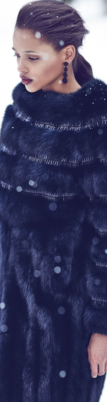 Oscar de la Renta Nafa Embroidered Sable Fur Coat
