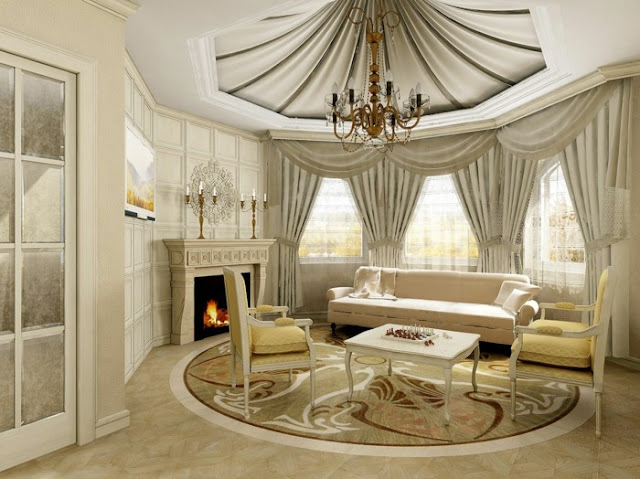 Arabic Living Room Design Curtain designs ideas