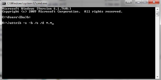 Cara Mudah Menampilkan File Hidden Dengan Attrib CMD