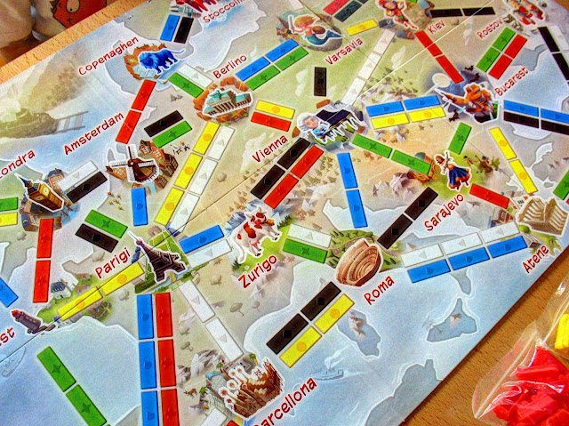 la mappa italiana di ticket to ride primo viaggio