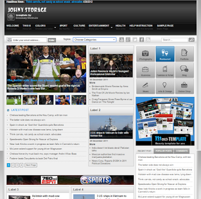 Johny Storage Blogger Template Free Download