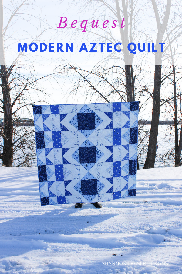 Bequest Modern Aztec Quilt by Shannon Fraser Designs