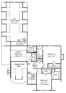 แบบบ้าน 2 ชั้น แปลนบ้านชั้นบน