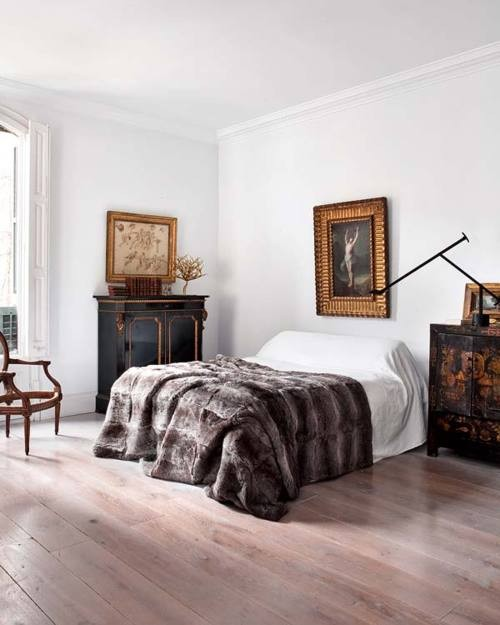 Masculine Vintage Bedroom: Bedroom Living Room Bedding Pouf Ottoman Textures Cable