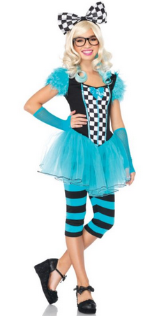 alice in wonderland hip teen costume