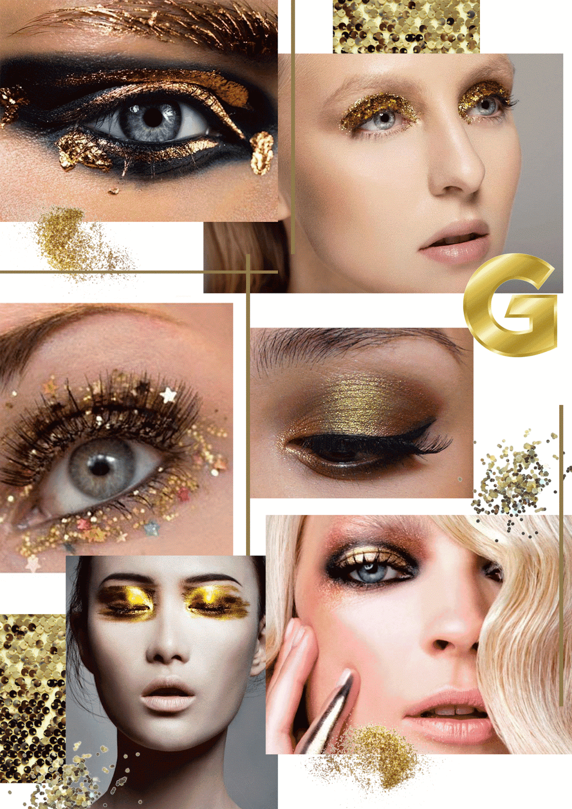 Trend Gold Beauty Trend Gold Party Makeup Sophie Hannah Richardson
