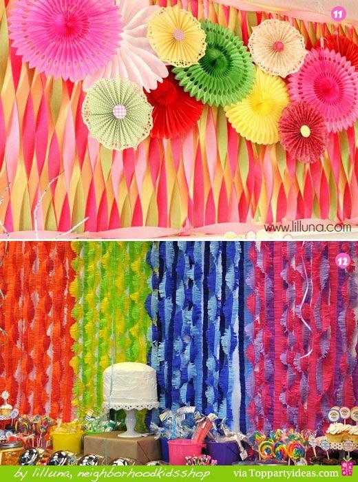 Decoracion de papel crepe pompones o bolas de papel crepe for Papel de decoracion
