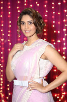 Surabhi in Designer Pink Saree and White Sleeveless Choli at Zee Telugu Apsara Awards 2017 14.JPG