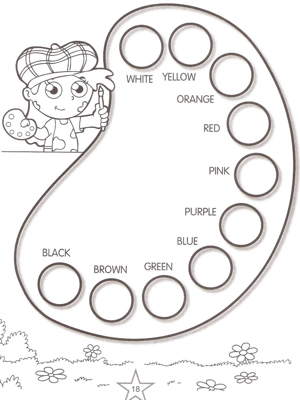 Atividades para colorir infantil: Atividades de inglês