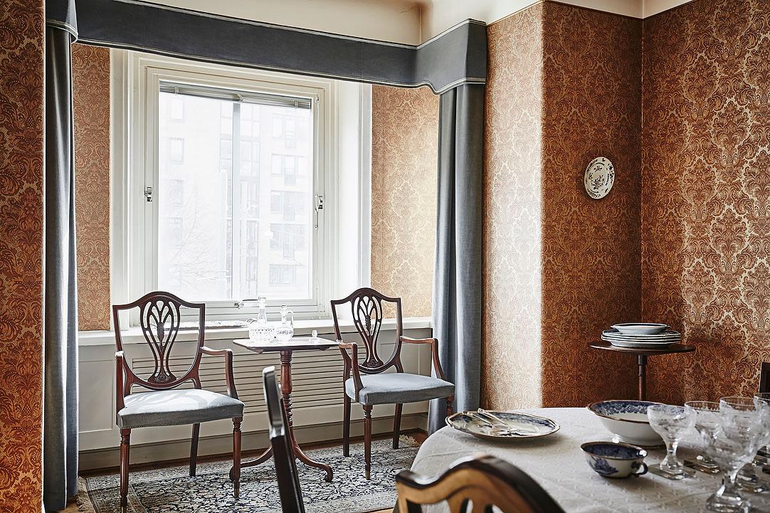 El blog de demarques piso de estilo clasico en suecia for Cortinas estilo clasico