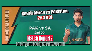 Today 2nd ODI Match Prediction Pakistan vs South Africa