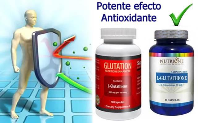 Potente efecto antioxidante del glutatión