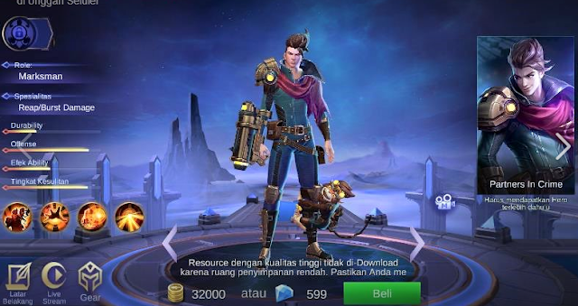 Inilah Top Guide Item Claude Mobile Legends Serangan Cepat