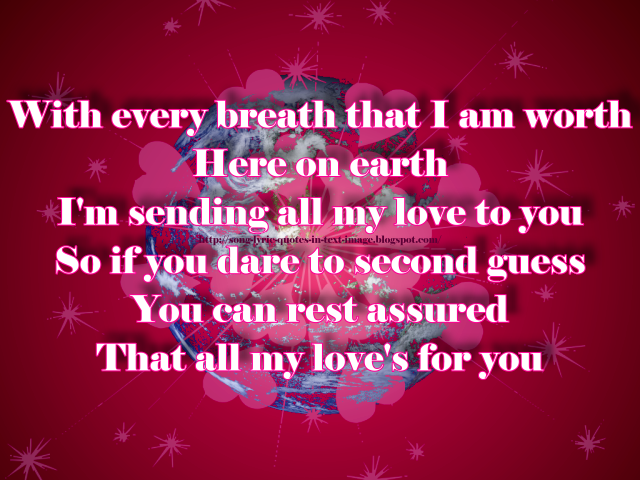 Text Image Quotes: Song Lyric Quotes In Text Image: Last Night On Earth