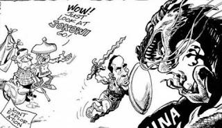 karikatur jokowi serang china