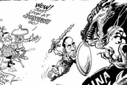 Karikatur Jokowi Melawan China oleh Media Filipina