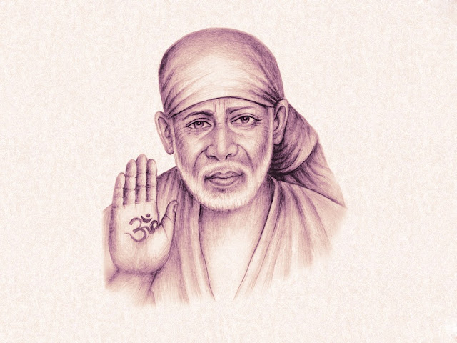 Lord Sai Baba HD Wallpaper In White Background