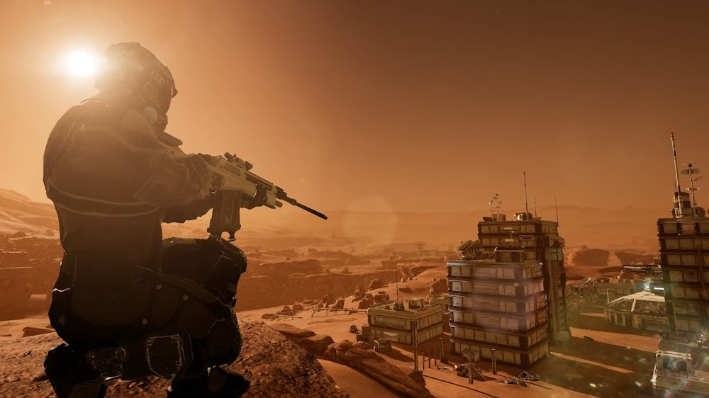 Memories of Mars game image - sniper near a town