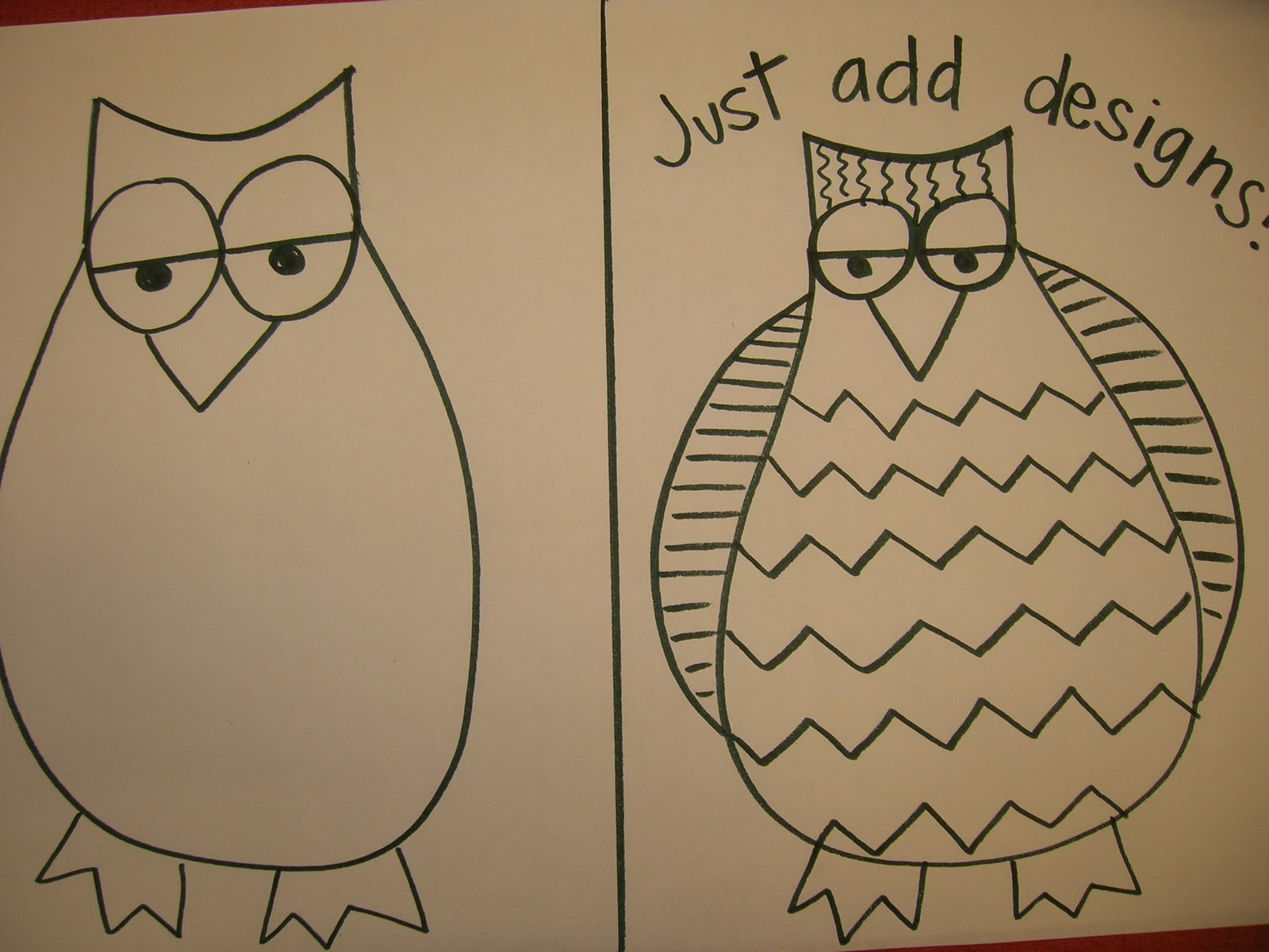 The Elementary Art Room Guided Drawing Owls