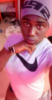 A Nigerian boyy dressed like a girl
