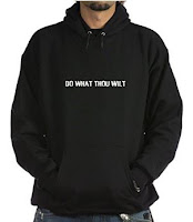 Do What Thou Wilt hoodie, on Amazon