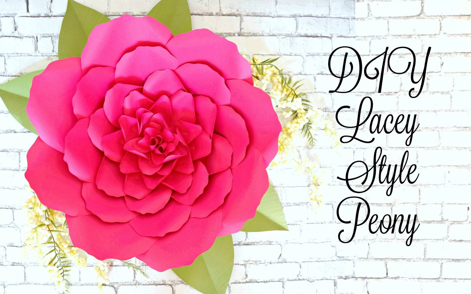 Large Paper Peonies Diy Paper Peony Tutorial How To