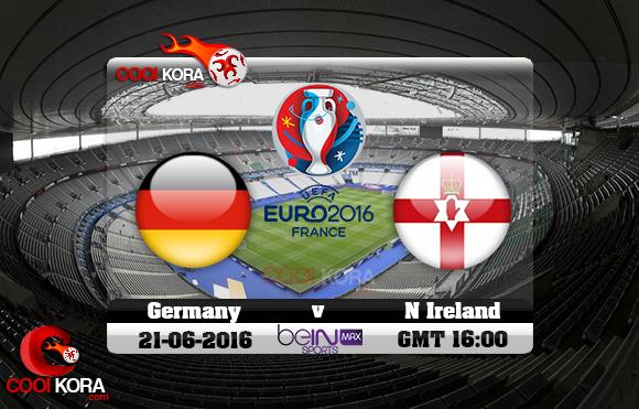 مشاهدة مباراة ألمانيا وإيرلندا الشمالية اليوم 21-6-2016 بي أن ماكس يورو 2016