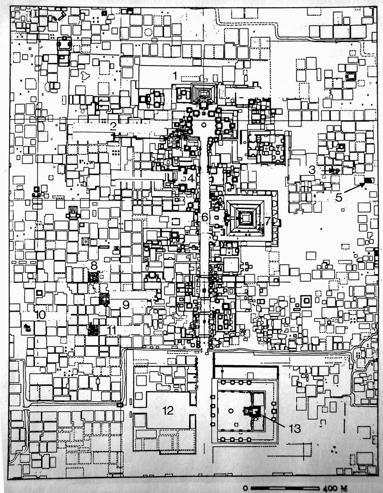 Resultado de imagen para teotihuacan traza de la ciudad