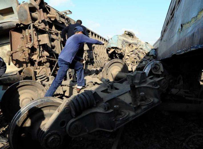 ارتفاع عدد قتلى حادث اصطدام القطارين في الإسكندرية