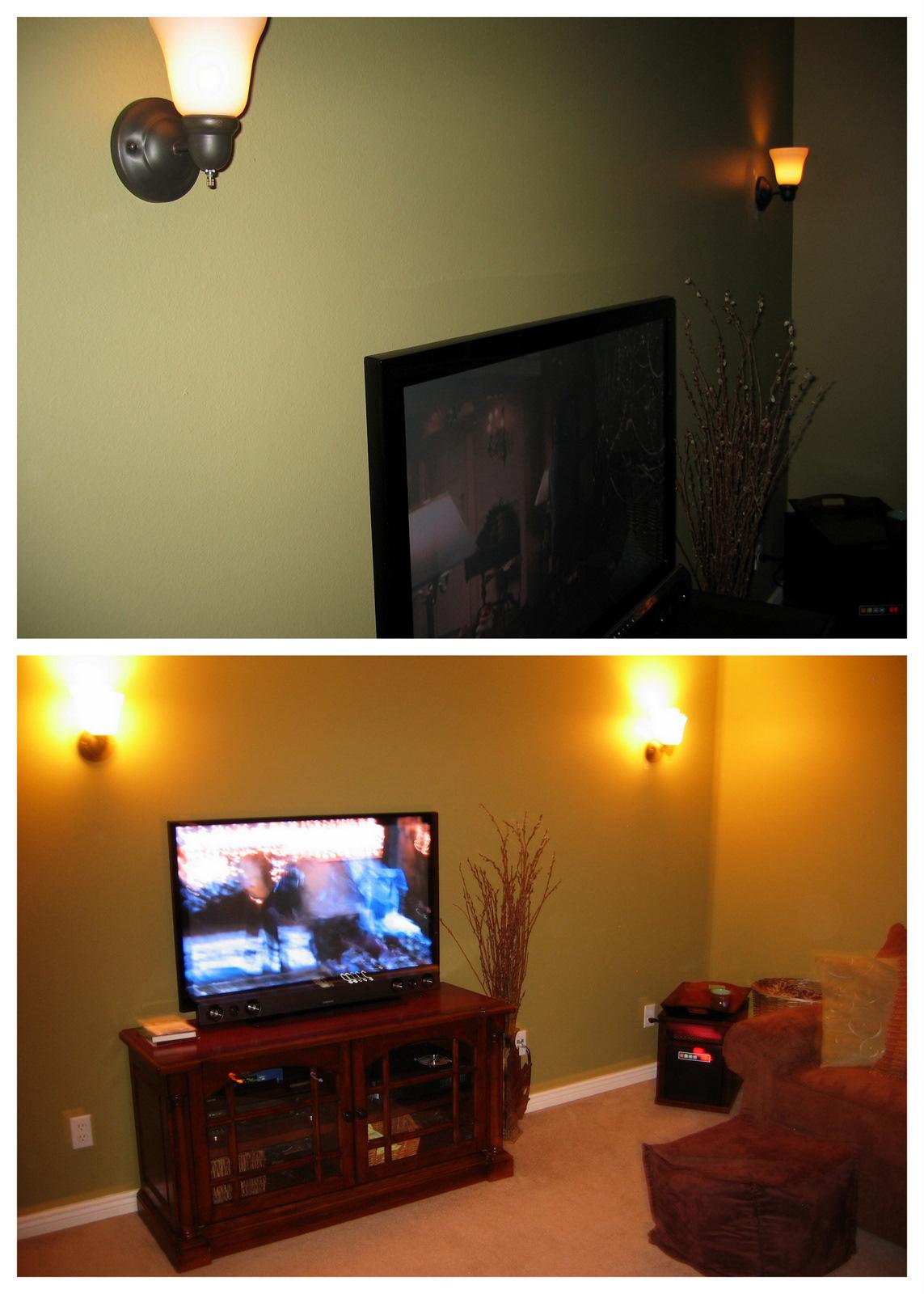 Pink Cookies with Sprinkles Bedroom turned into TV room