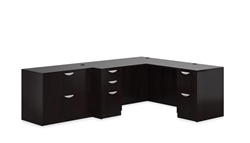 Offices To Go L Shaped Corner Desk with File Cabinet