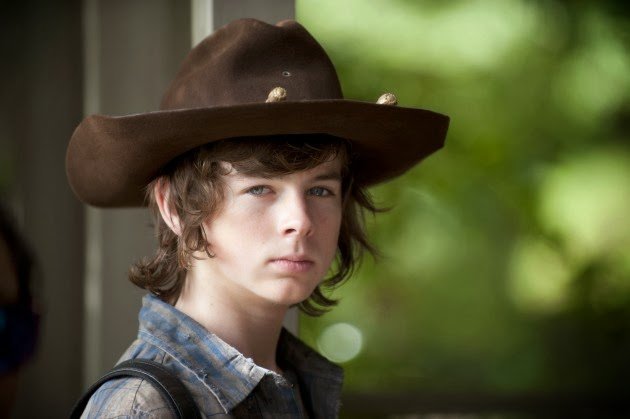 Carl en The Walking Dead 4x11 - Claimed