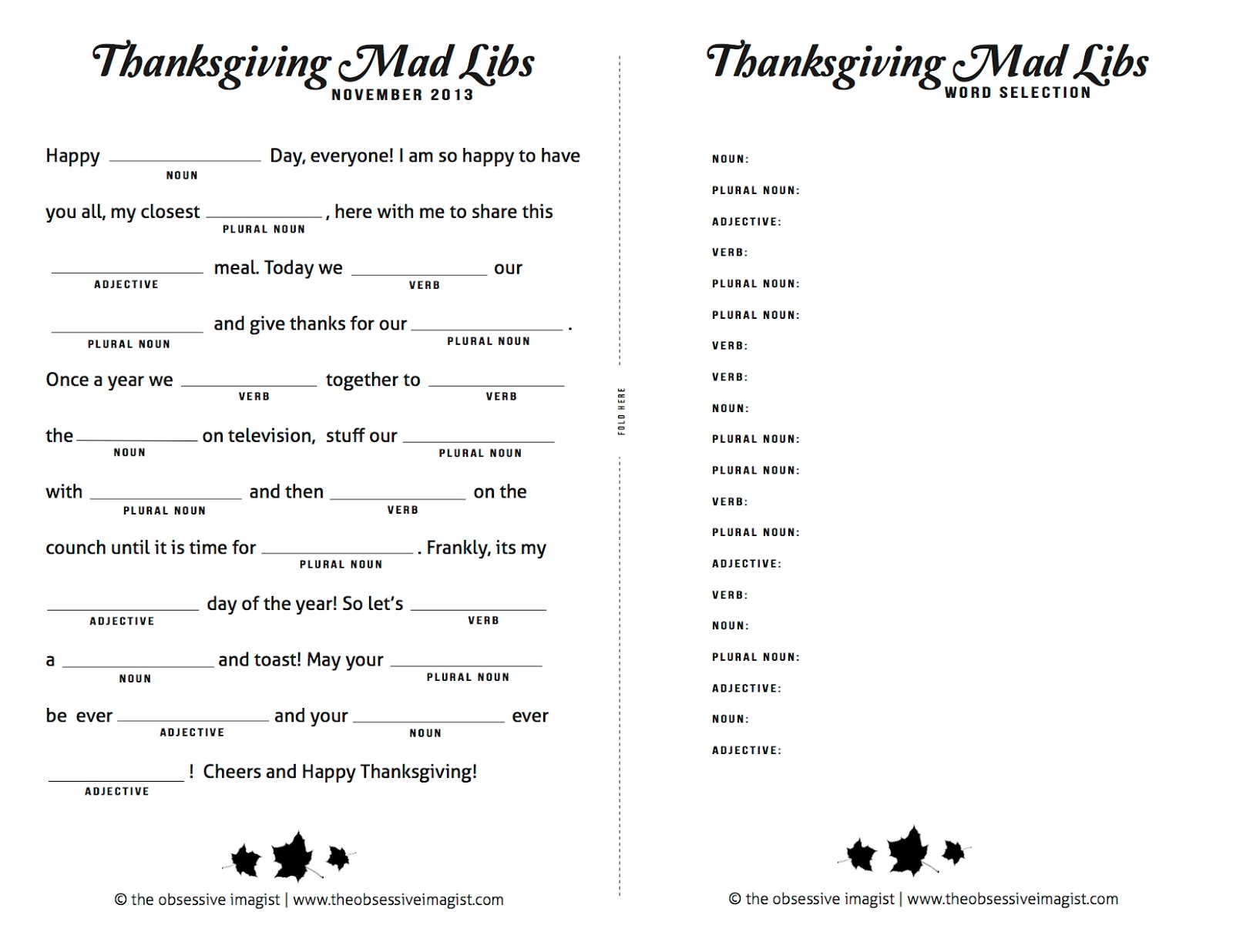 photograph about Thanksgiving Mad Libs Printable named the obsessive imagist artwork, style, lifetime: Insane Grateful
