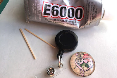 Supplies to complete badge reel