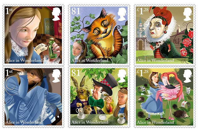 Série Alice in Wonderland - Royal Mail