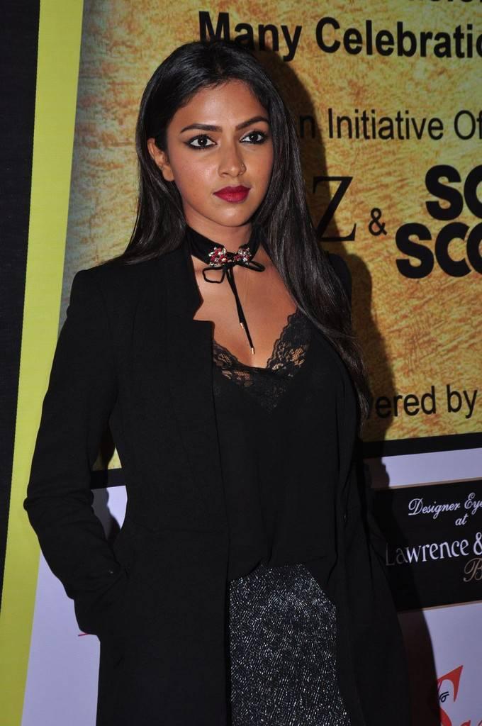 Amala Paul In Black Dress At South Scope Lifestyle Awards