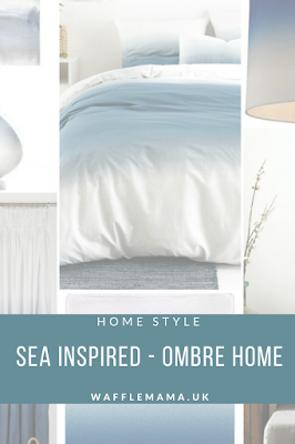 Seaside home decor, ombre home ideas