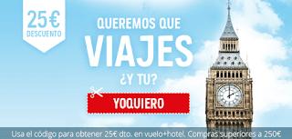 Atrápalo 25€ de descuento para viajes