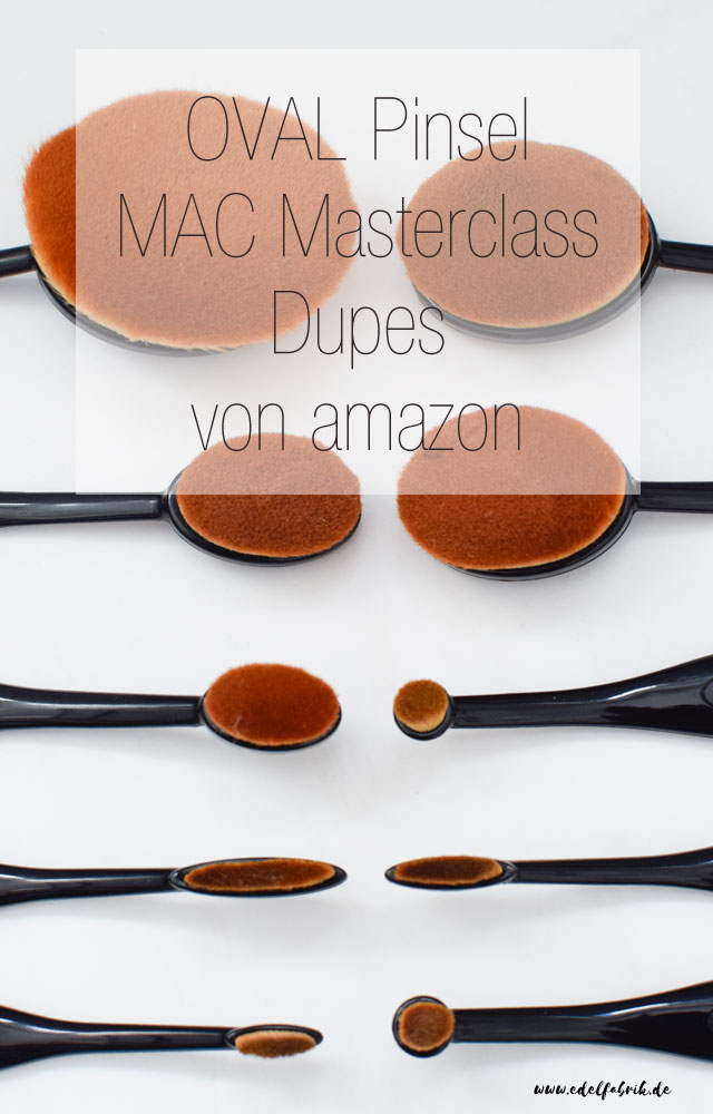 die edelfabrik, Dupes von amazon zu MAC Masterclass Pinseln